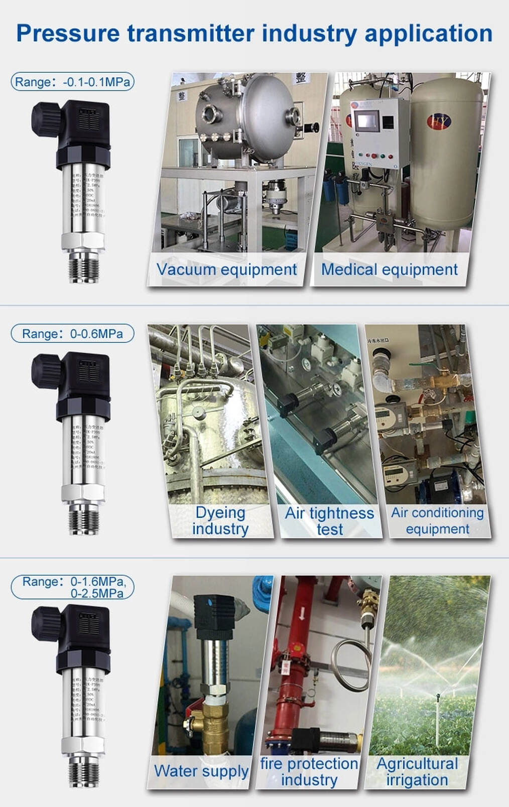 Auto SP Pressure Transmitter Application