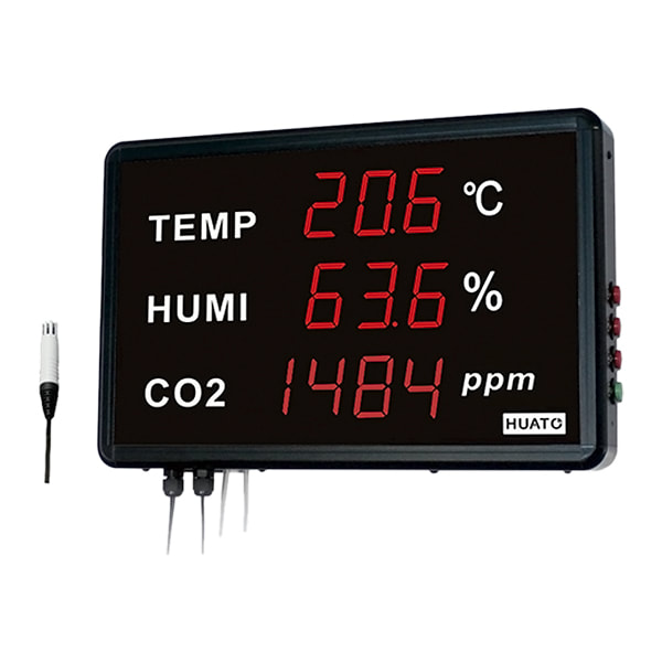 Huato HE218-TH-CO2 Large LED Display Thermohygrometer with CO2