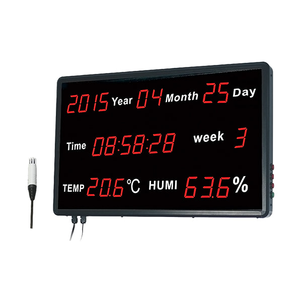 Huato HE218B Large LED Display Thermohygrometer with Date, Time and Week