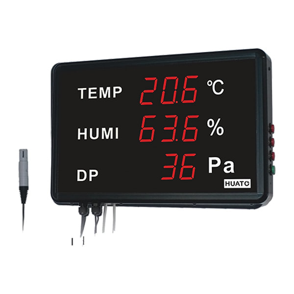 Huato HE218-THP Large LED Display Thermohygrometer with Differential Pressure