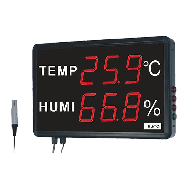 Huato HE230A Large LED Display Thermohygrometer Transmitter