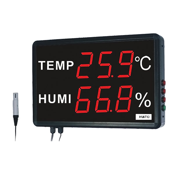 Huato HE230AS Large LED Display Thermohygrometer Transmitter