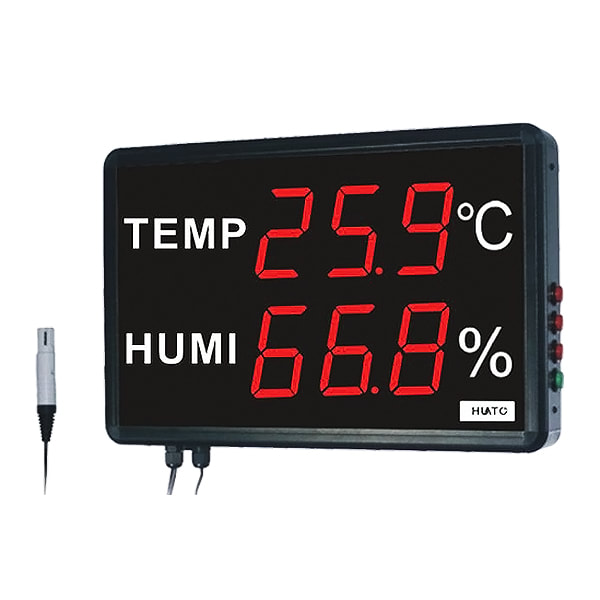 Huato HE230AS2 Large LED Display Thermohygrometer Transmitter